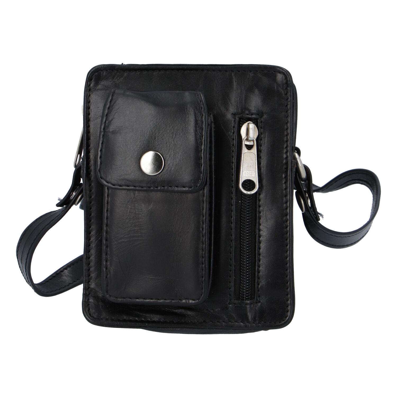Pánská kožená kapsa na doklady černá - Tomas Furry