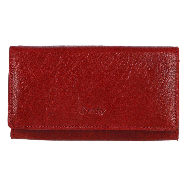 Dámská kožená peněženka červená - Rovicky N195