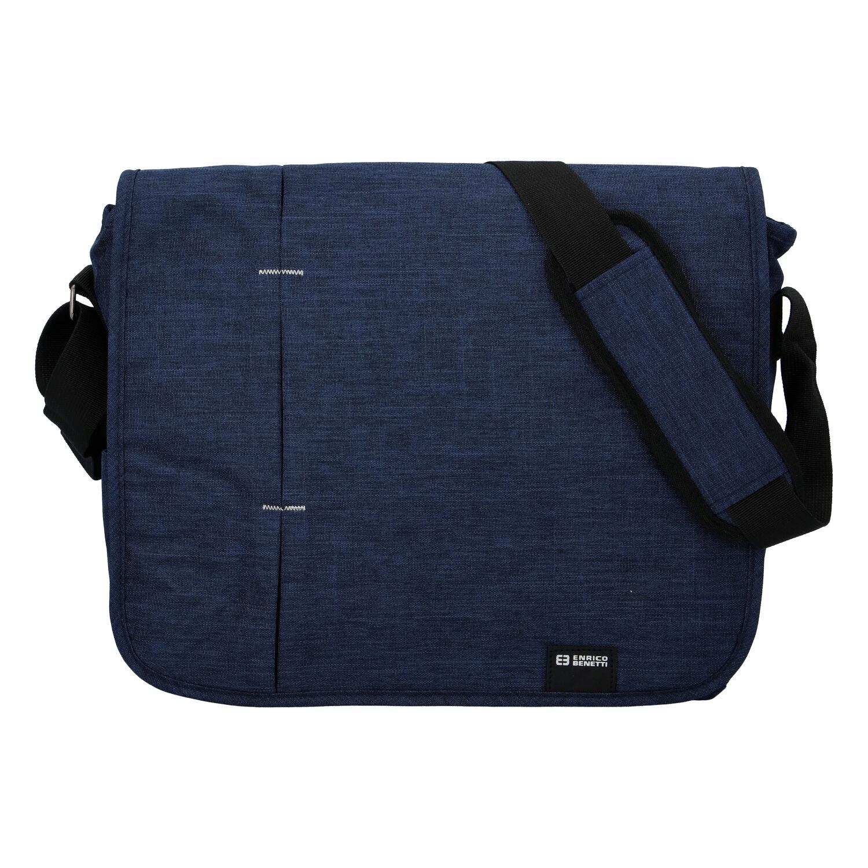 Kvalitní modrá nylonová brašna na notebook - Enrico Benetti Jason