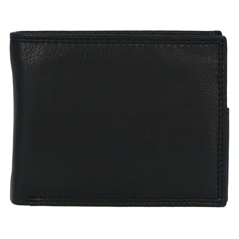 Kožená pánská černá peněženka - ItParr New