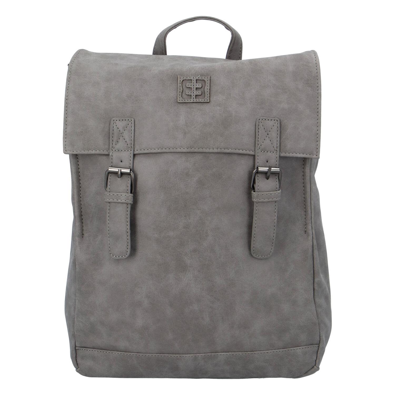 Módní stylový batoh šedý - Enrico Benetti Travers