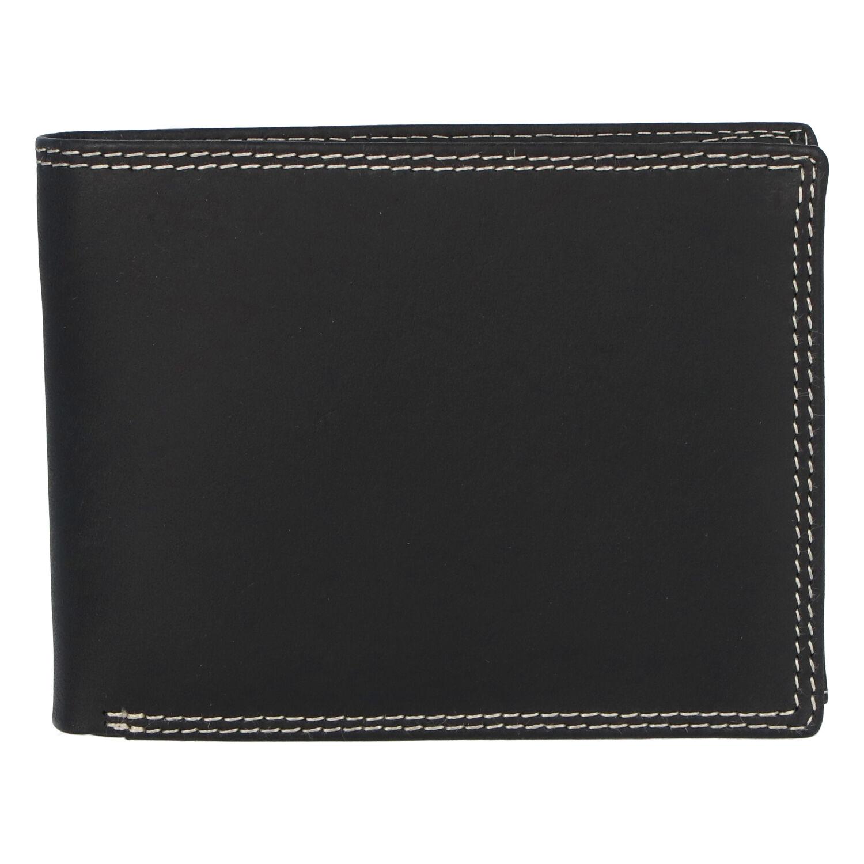 Kožená pánská černá peněženka broušená - ItParr