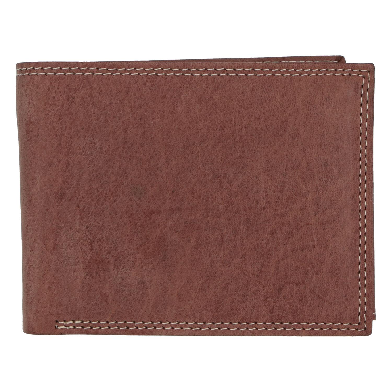 Kožená pánská hnědá peněženka broušená - ItParr