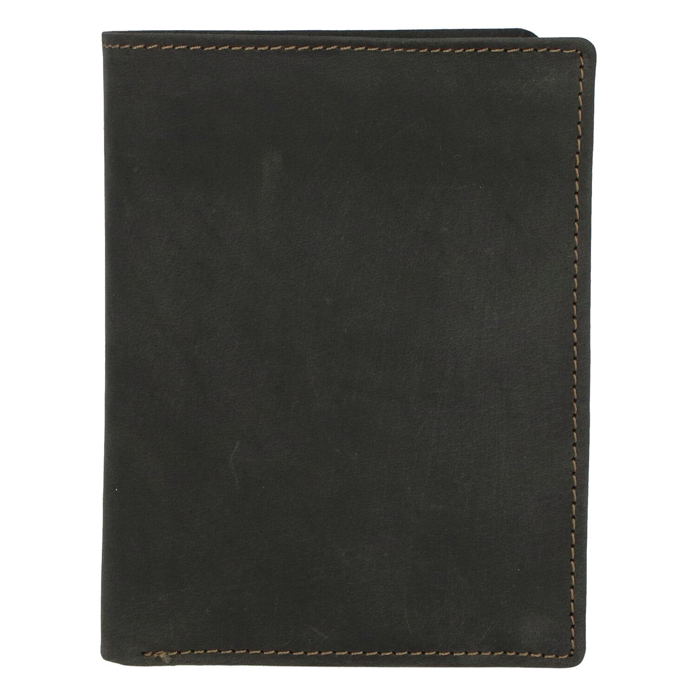 Pánská kožená peněženka černá broušená - Tomas Palac
