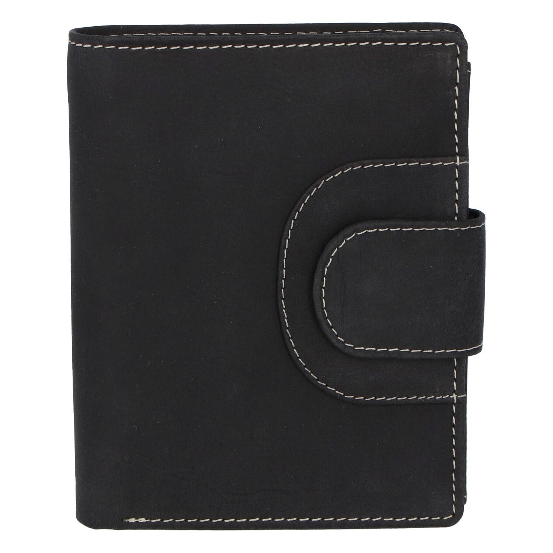 Elegantní kožená peněženka černá broušená - Tomas Pilia