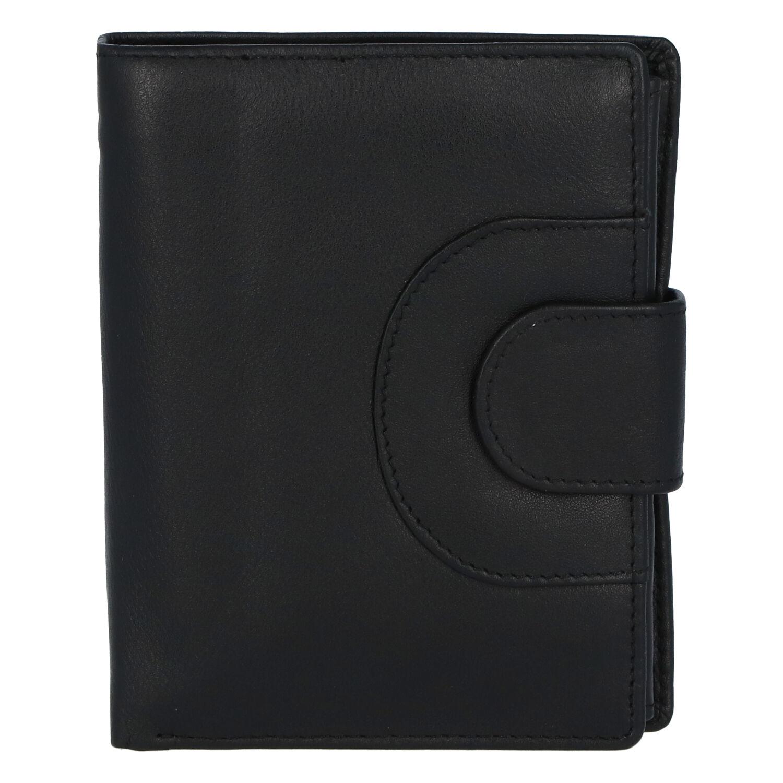 Elegantní kožená peněženka černá - Tomas Pilia