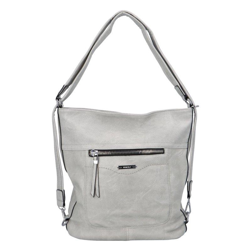 Dámská kabelka batoh světle šedá - Romina Wamma