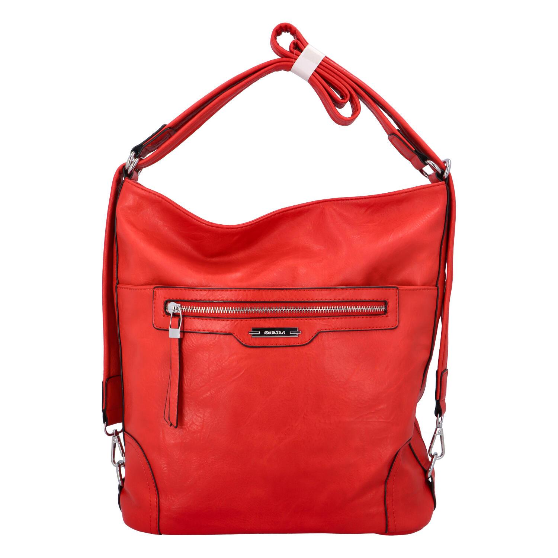 Dámská kabelka batoh červená - Romina Zilla