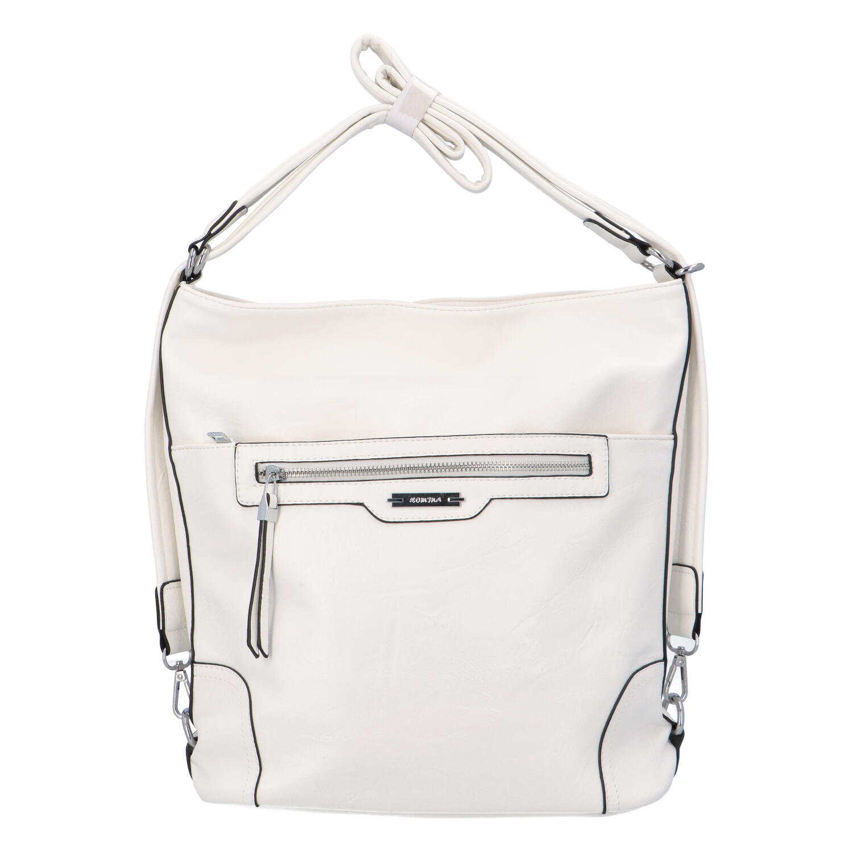 Dámská kabelka batoh bílá - Romina Zilla