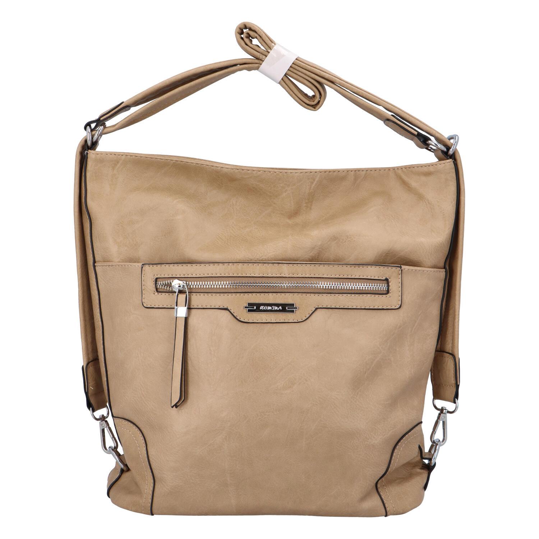 Dámská kabelka batoh béžová - Romina Zilla