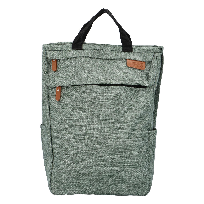 Trendy a stylový bledě zelený látkový batoh - New Rebels Genderus