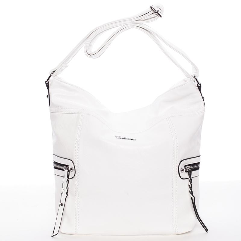 Dámská crossbody kabelka bílá - Delami Bernardette II