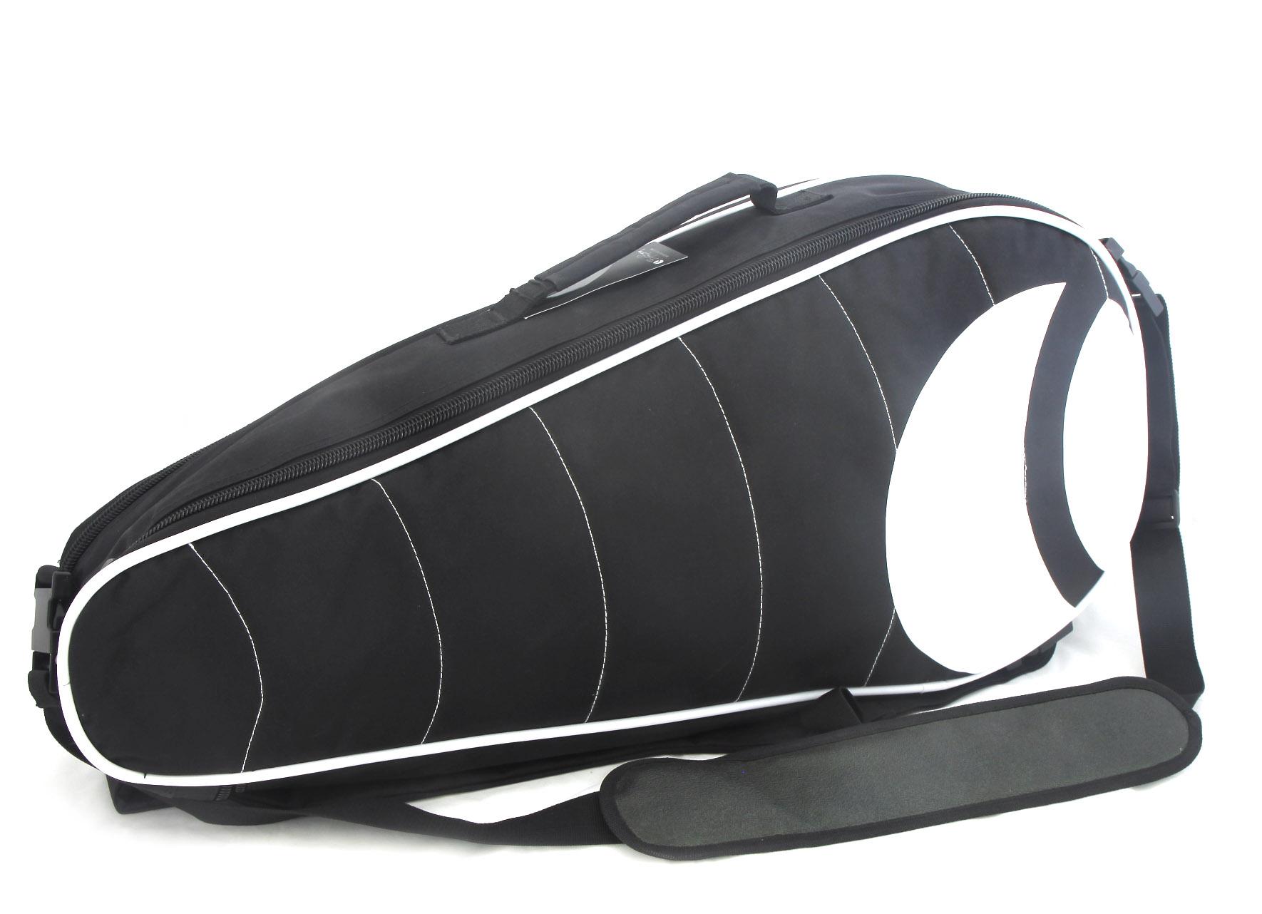 Pánská tenisová taška černo bílá - Bjorn Borg BV94001