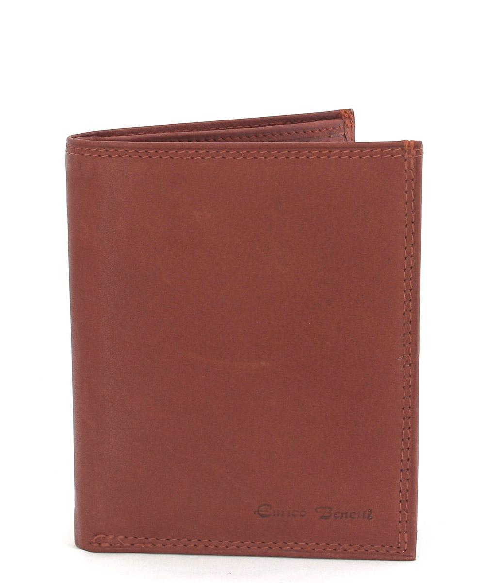 Pánská kožená peněženka v barvě koňak 0166