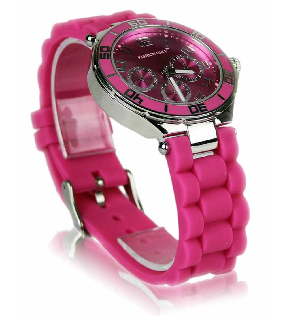 Růžové hodinky Fashion Only W0015