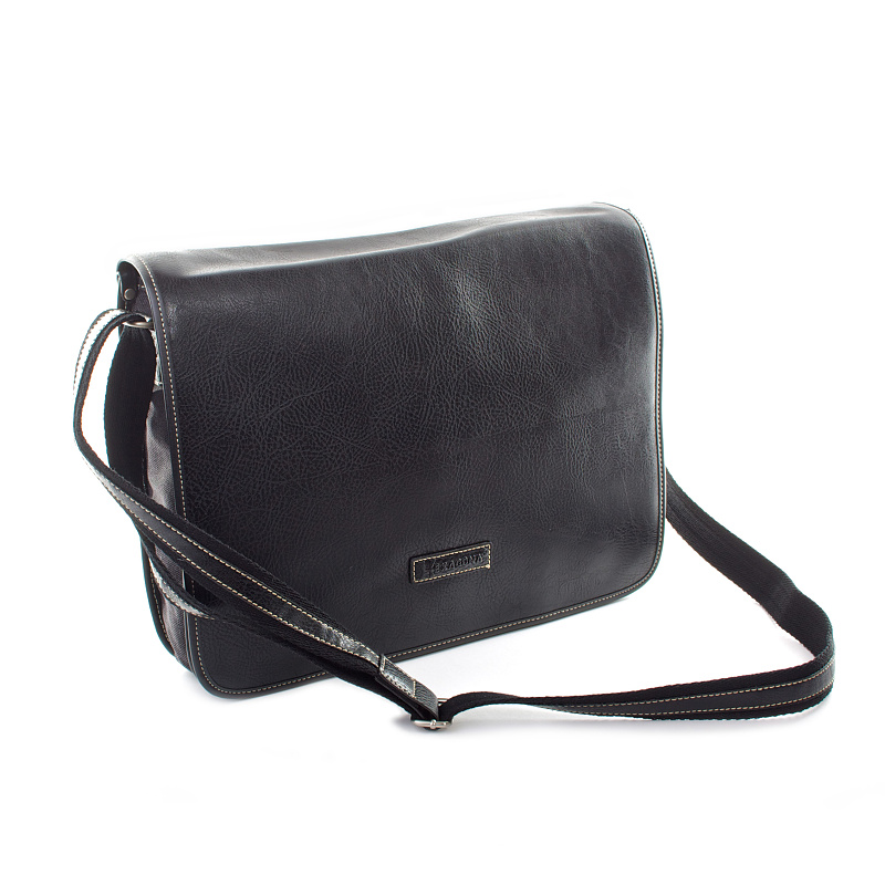 Černá stylová pánská taška přes rameno Hexagona 400372A