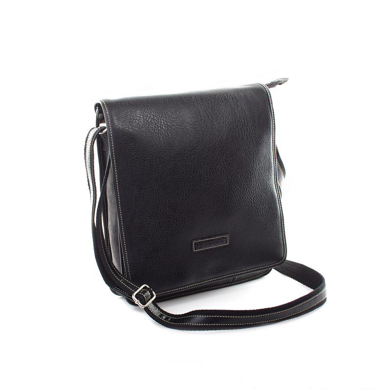 Černá moderní pánská taška přes rameno Hexagona 409111
