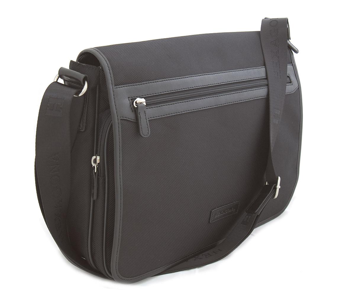 Černá pánská taška přes rameno Hexagona D72279