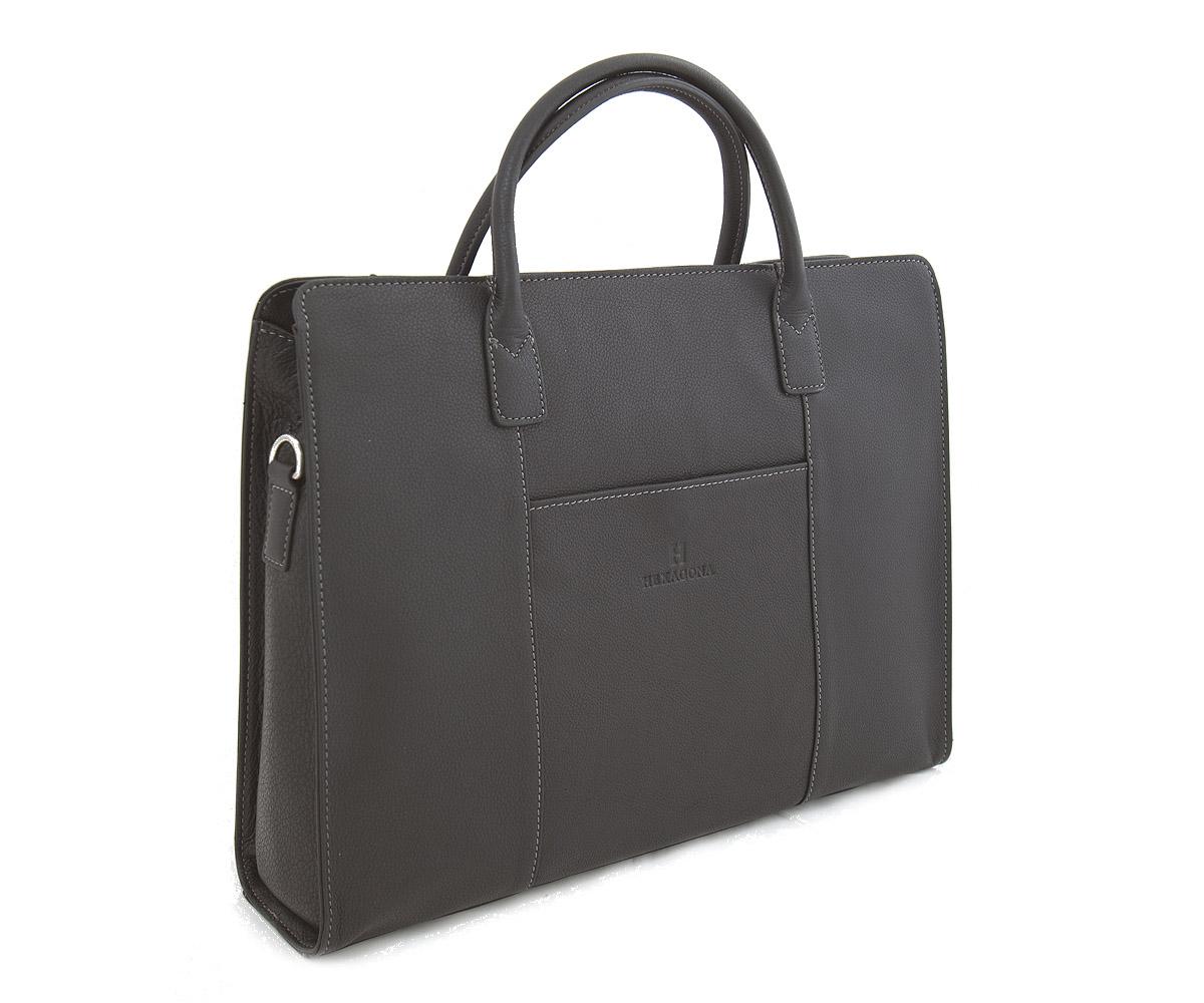 Dámská kabelka černá kožená - Hexagona 462698