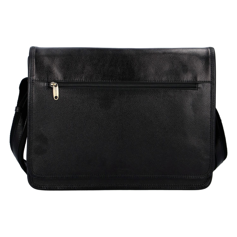 Luxusní pánská kožená taška černá - Hexagona Pierre