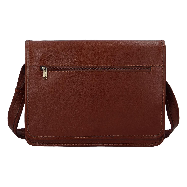 Luxusní pánská kožená taška hnědá - Hexagona Pierre