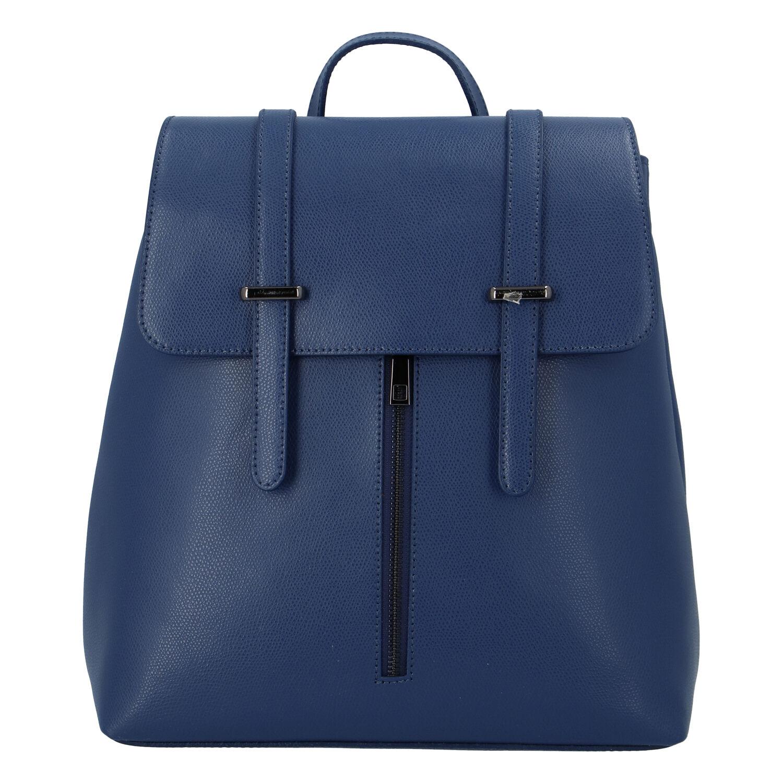Dámský kožený batoh tmavě modrý - ItalY Waterfall