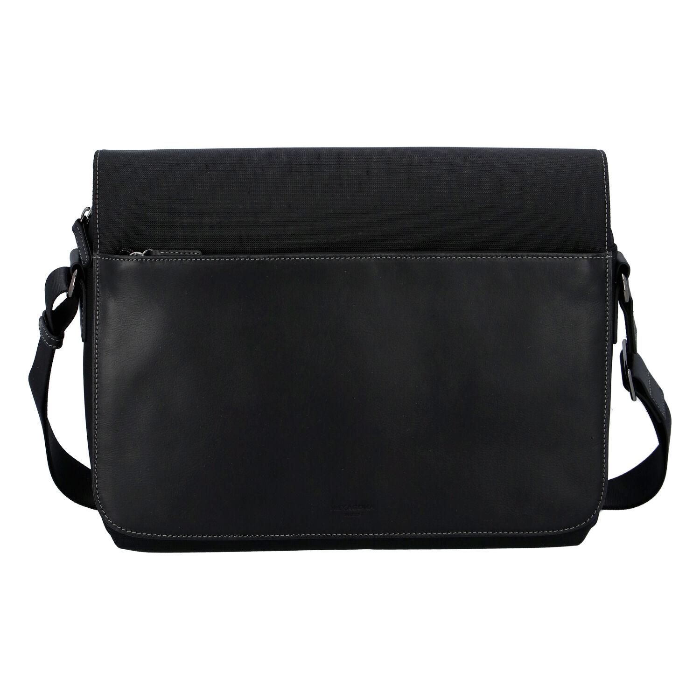 Pánská kožená taška přes rameno černá - Hexagona 296181