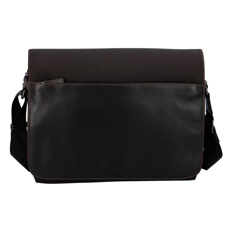 Pánská kožená taška přes rameno hnědá - Hexagona 296181