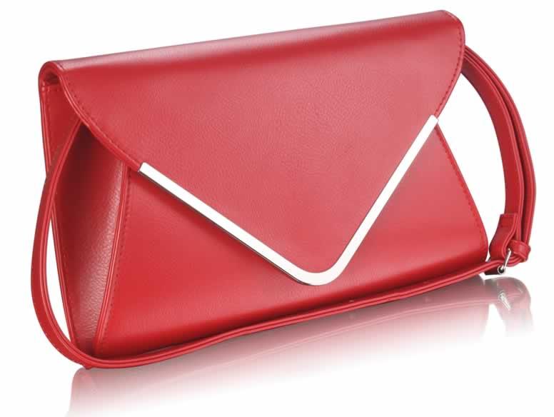 Červené elegantní psaníčko LSE00166A