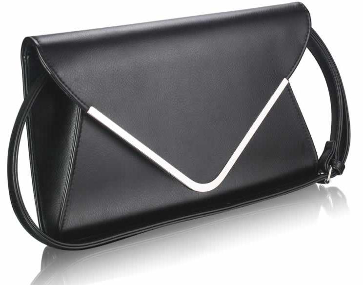 Černé elegantní psaníčko LSE00166A