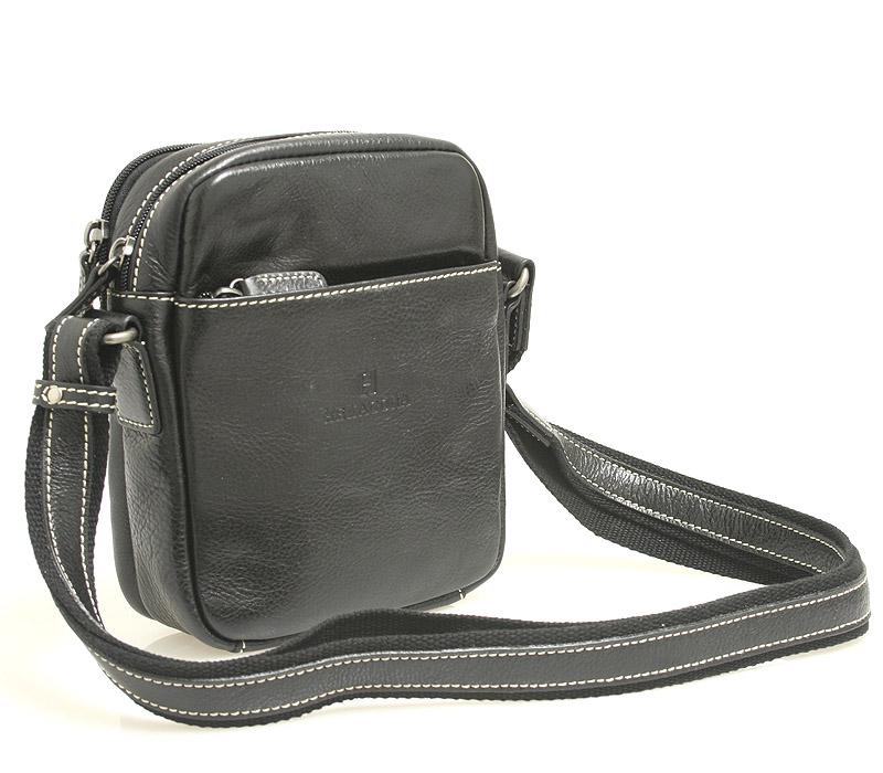 Černá luxusní kožená taška na doklady Hexagona 123477
