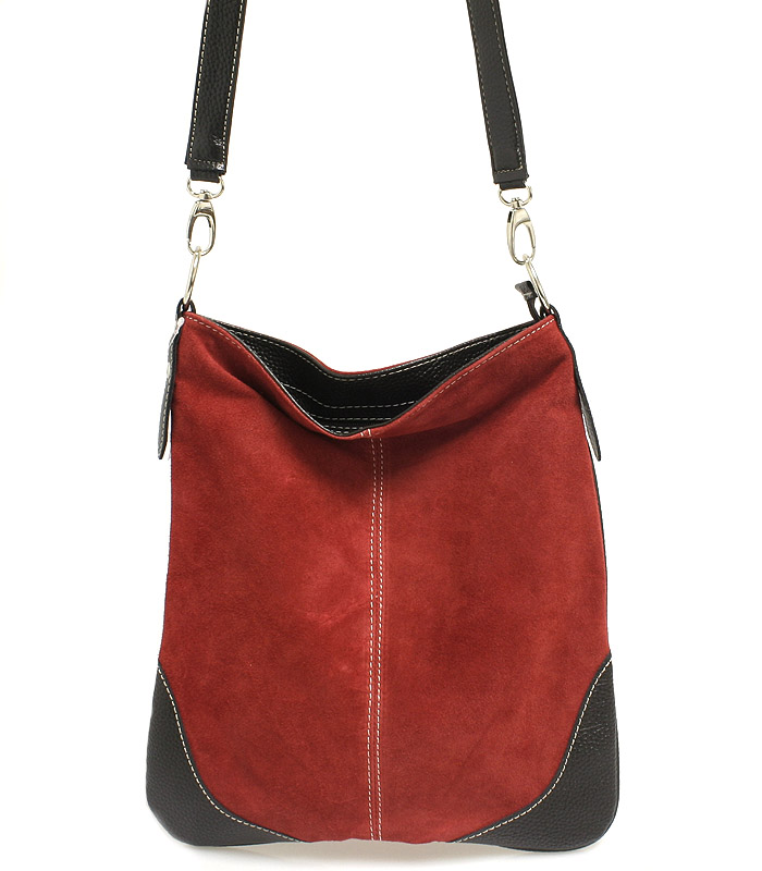 Červená kožená crossbody kabelka ItalY 10062