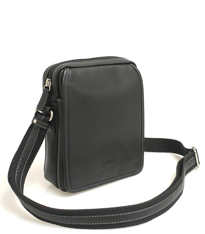 Černá luxusní kožená dokladovka Hexagona 469565
