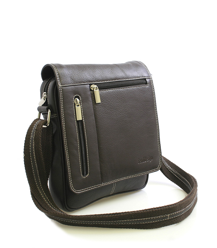 Tmavě-hnědá luxusní kožená taška IG703