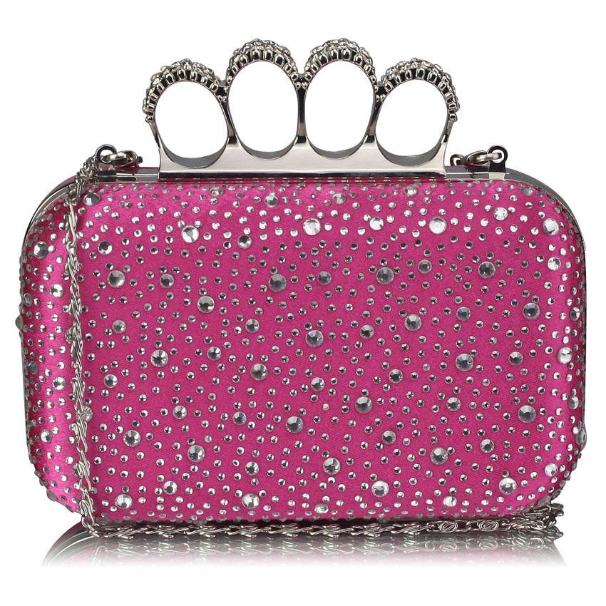 Luxusní růžové kamínkové psaníčko s boxerem LSE00119