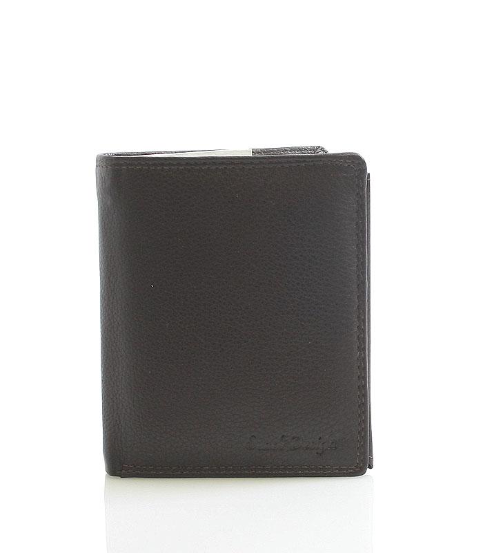 Hnědá kožená peněženka SendiDesign P16-6