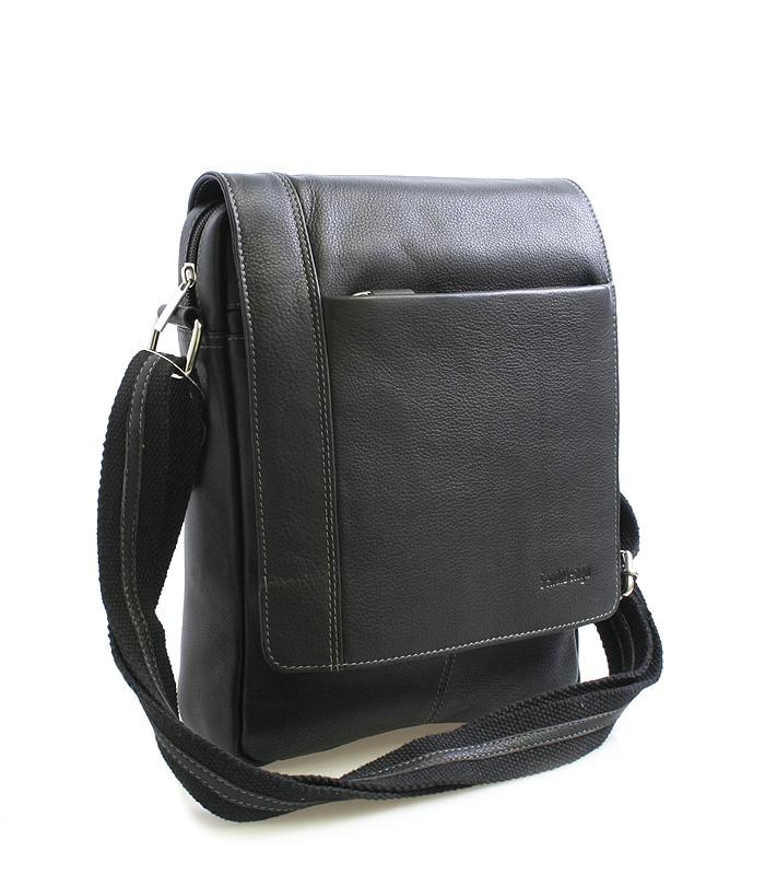 Černá luxusní kožená taška IG701