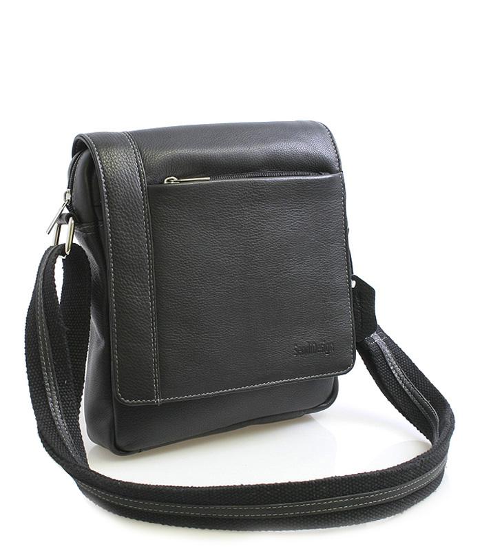 Černá luxusní kožená taška IG702
