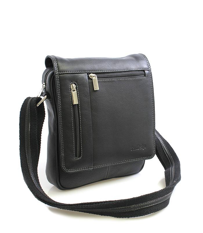 Černá luxusní kožená taška IG703