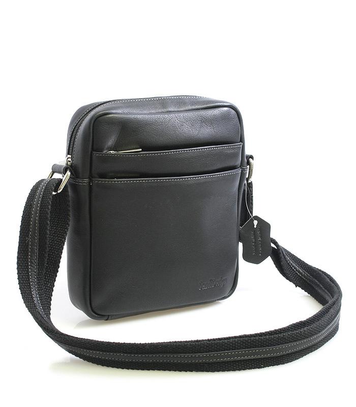 Černá luxusní kožená taška IG710