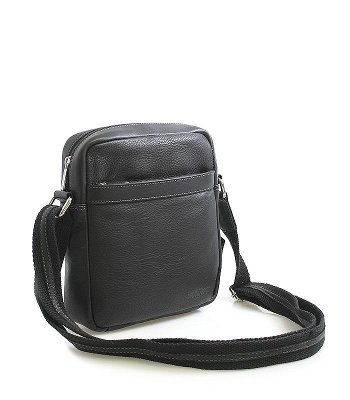 Černá luxusní kožená taška IG711