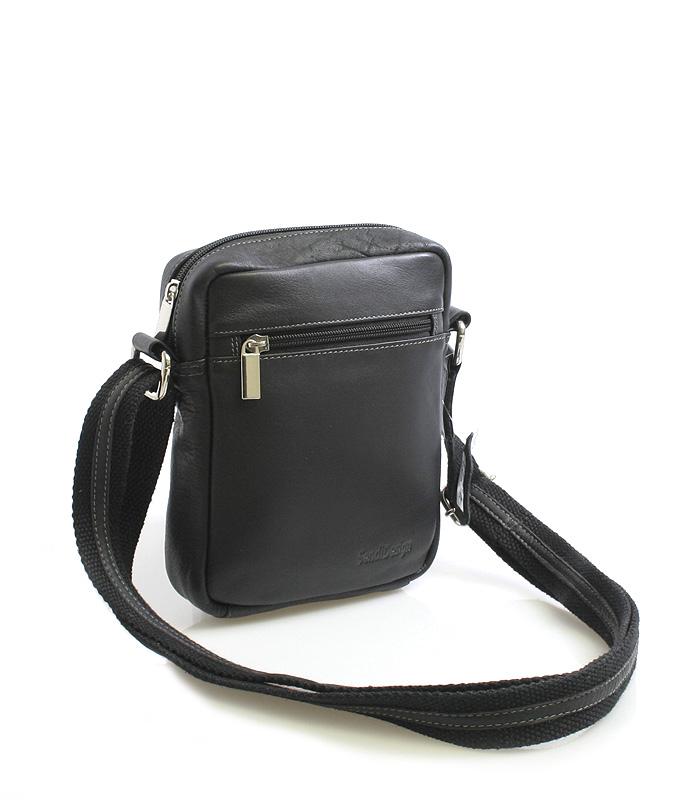 Černá luxusní kožená taška IG714
