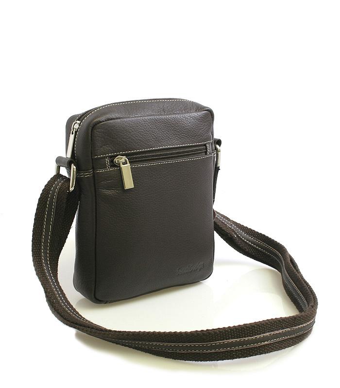 Tmavě-hnědá luxusní kožená taška IG714