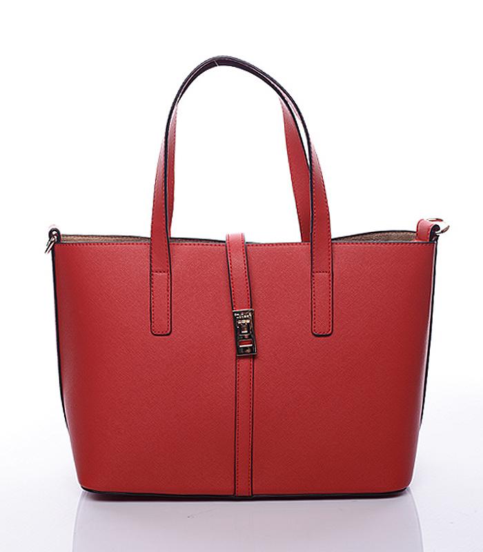 Červená luxusní kabelka přes rameno David Jones 3822