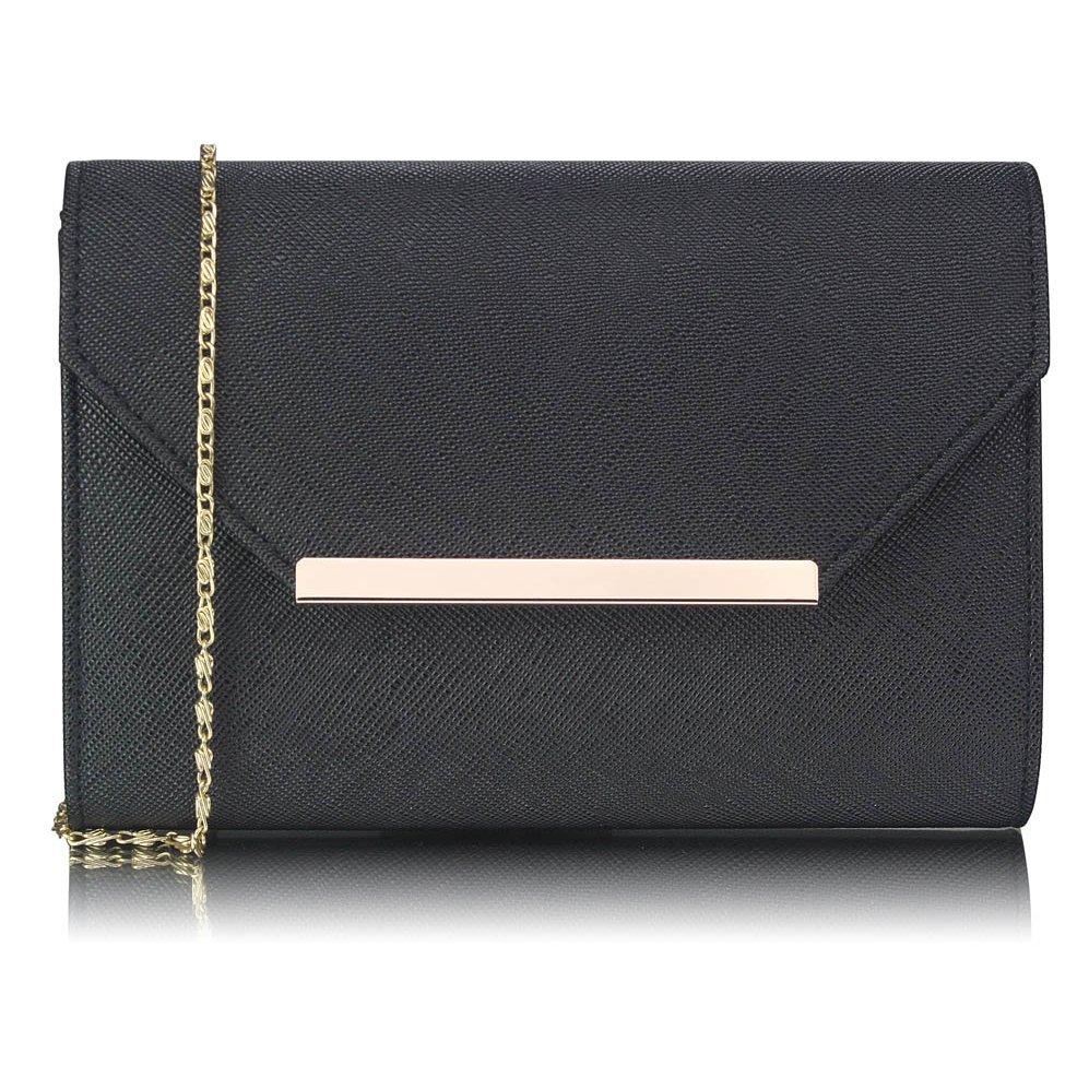 Luxusní černé psaníčko LS Fashion 0293