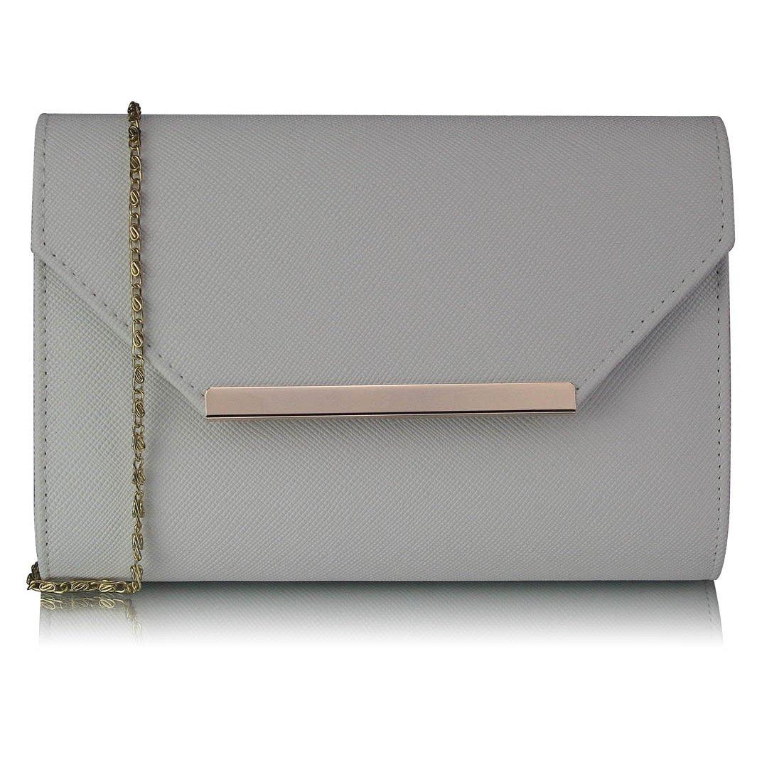 Luxusní bílé psaníčko LS Fashion 0293