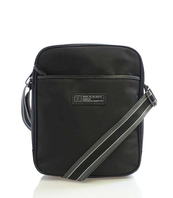 Černá taška přes rameno Enrico Benetti 4471
