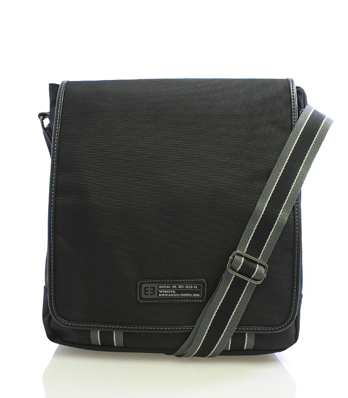 Černá taška přes rameno Enrico Benetti 4472