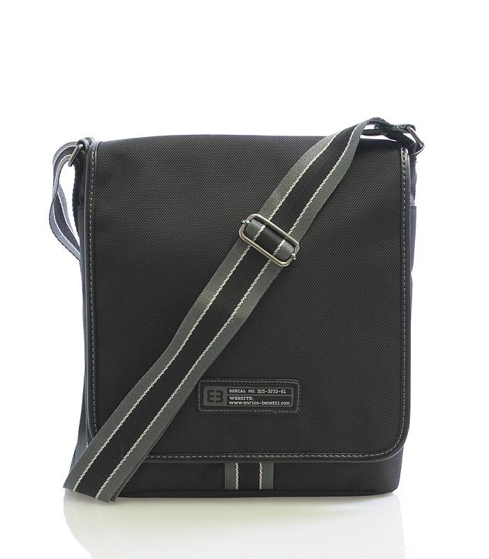 Černá taška přes rameno Enrico Benetti 4473