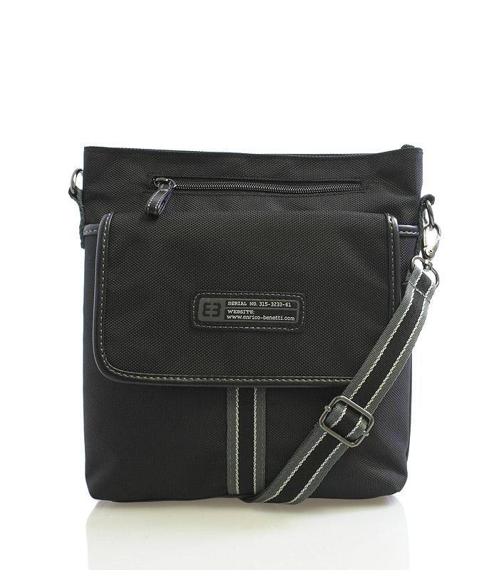 Černá taška přes rameno Enrico Benetti 4474